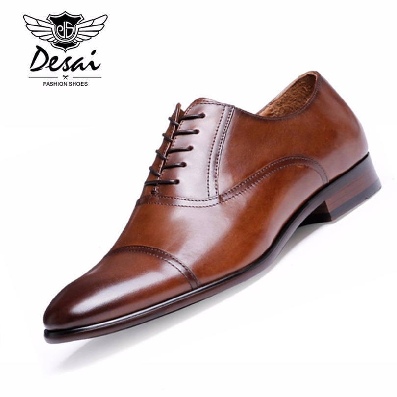 Business Shoes Leather Oxford Shoes
