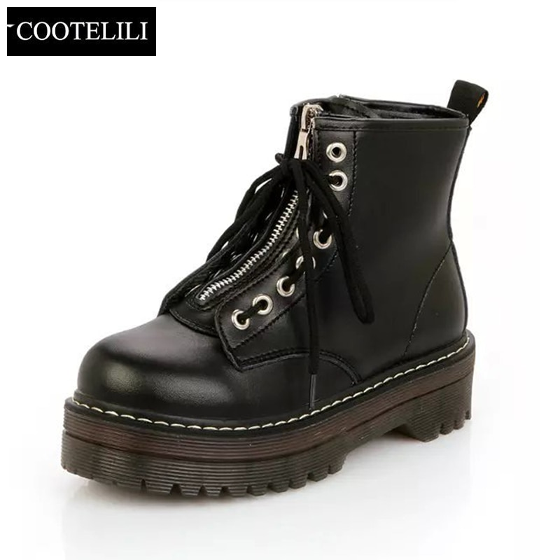 Fashion Flat Shoes Leather Boots