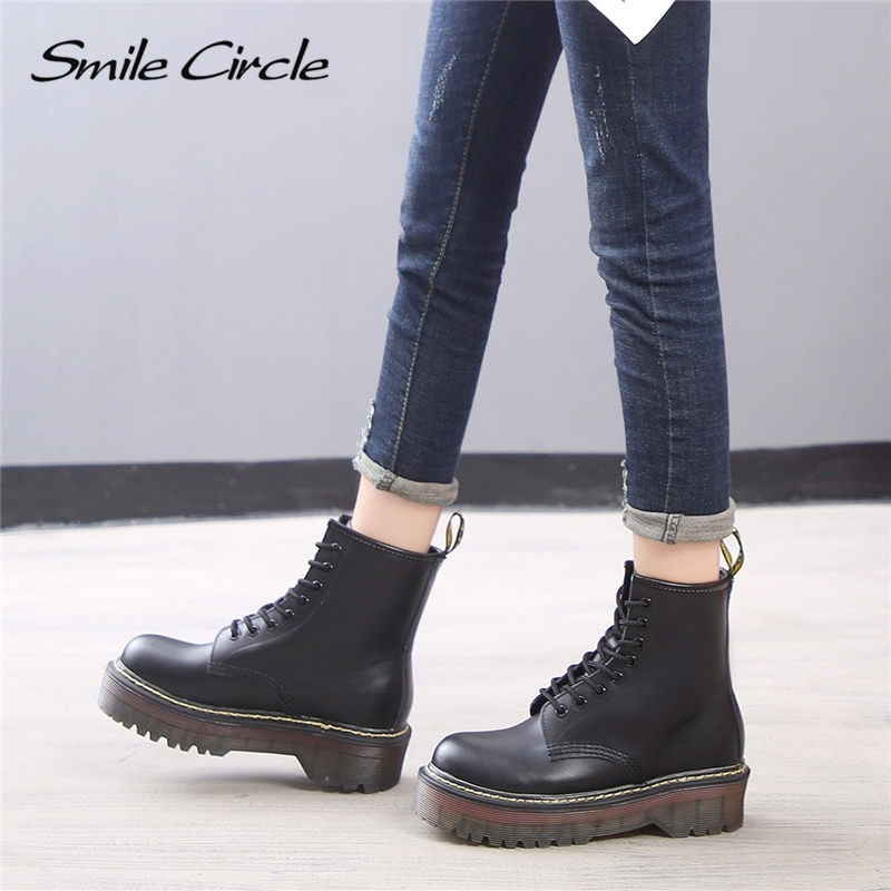 Flat Platform Boots Women Shoes