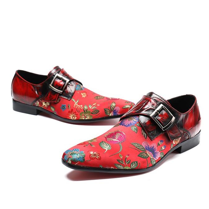 Flower Pattern Fashion Dress Shoes