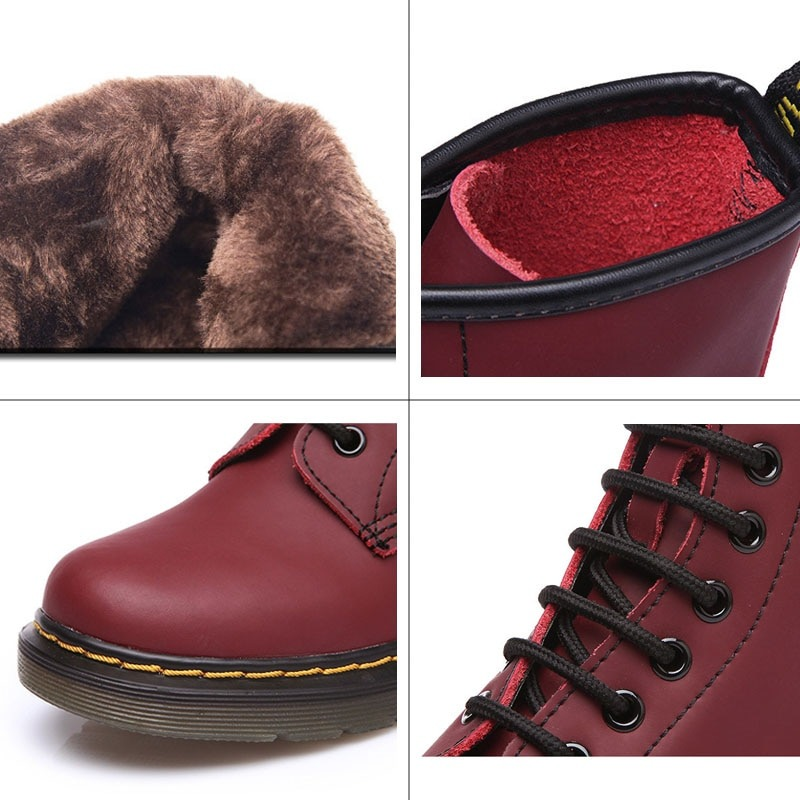 Genuine Leather Shoes Winter Boots