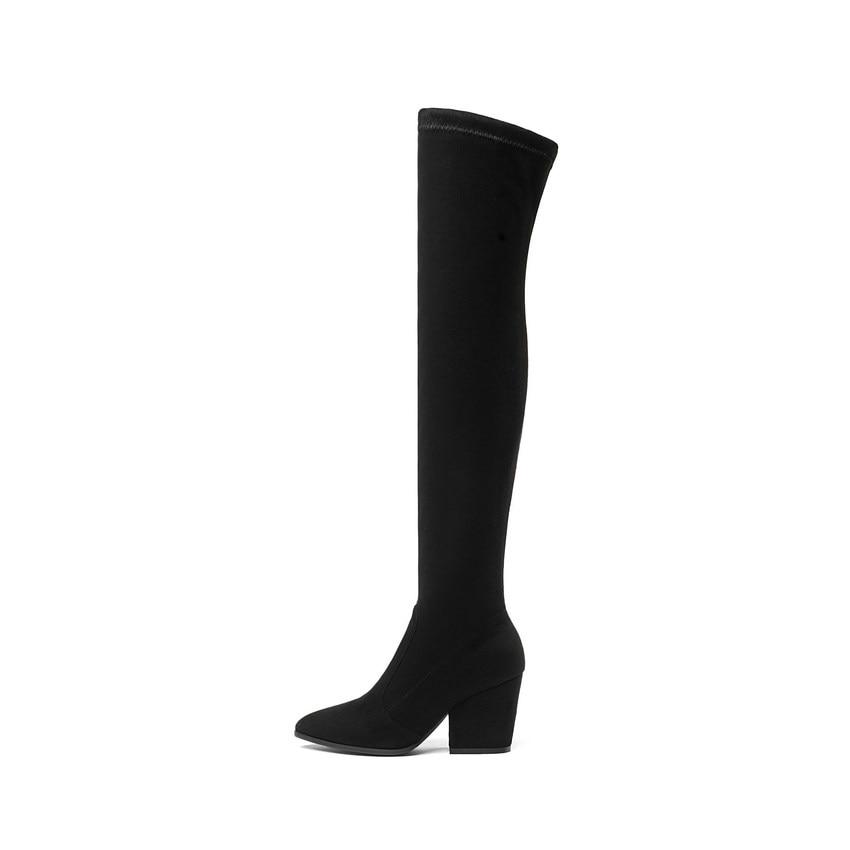 High Boots Hoof Heels Winter Shoes