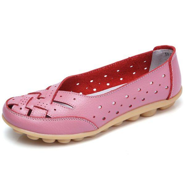 Leather Flat Shoes Ballet Shoes