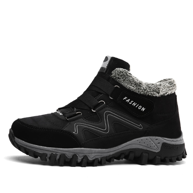Leather Men Boots Winter Casual Shoes
