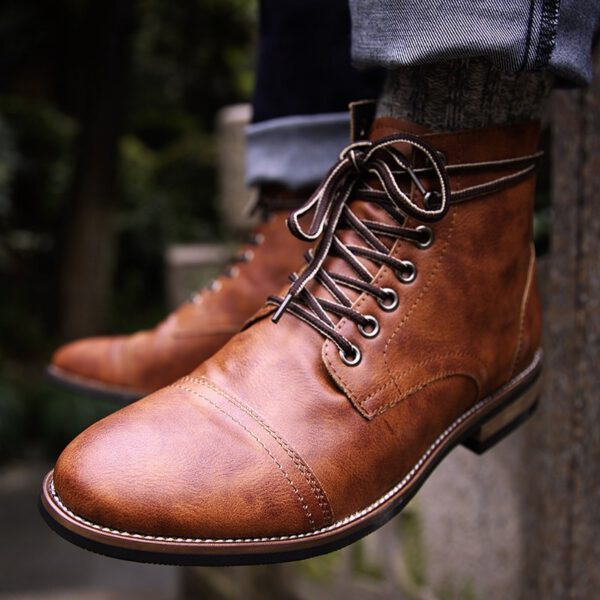 Leather Shoes British Military Boots
