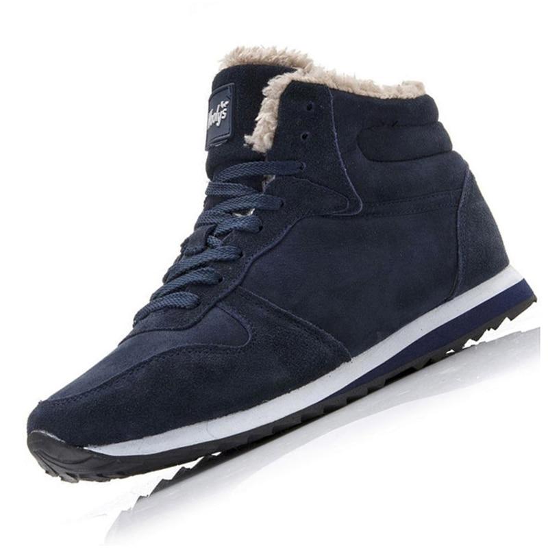 Men Boots Winter Leather Shoes