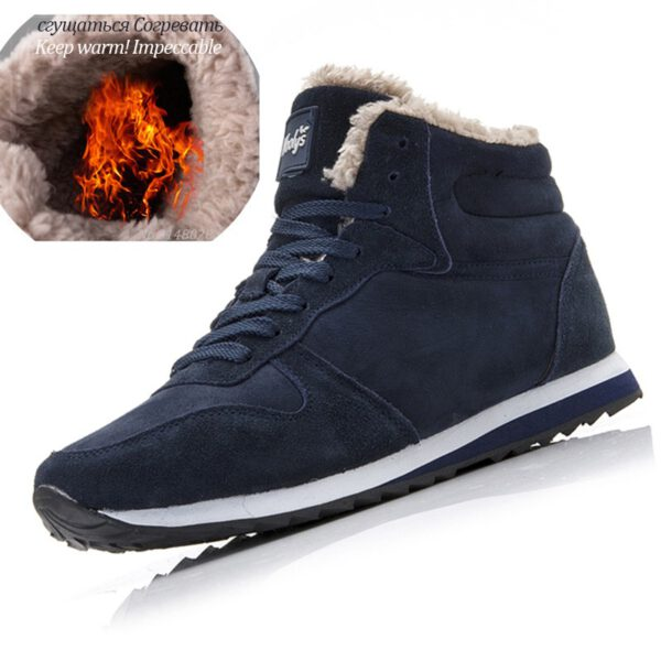 Men Boots Winter Leather Shoes