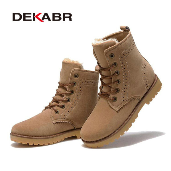 Men Boots Winter Snow Warm Casual Shoes