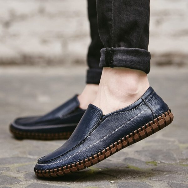 Men Casual Shoes Leather Loafers