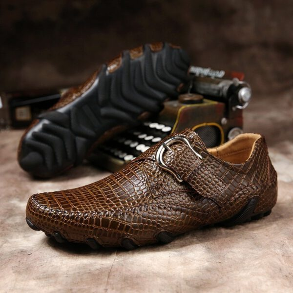 Men Loafers Leather Driving Shoes
