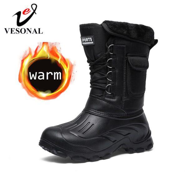 Snow Men Boots Rain Shoes
