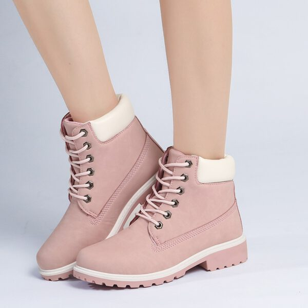 Winter Shoes Flat Heel Boots