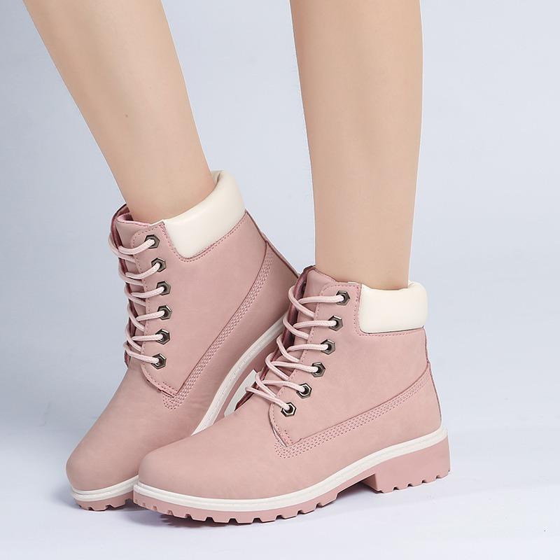 Winter Shoes Flat Heel Boots