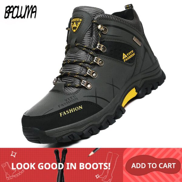 Winter Snow Boots Leather Sneakers