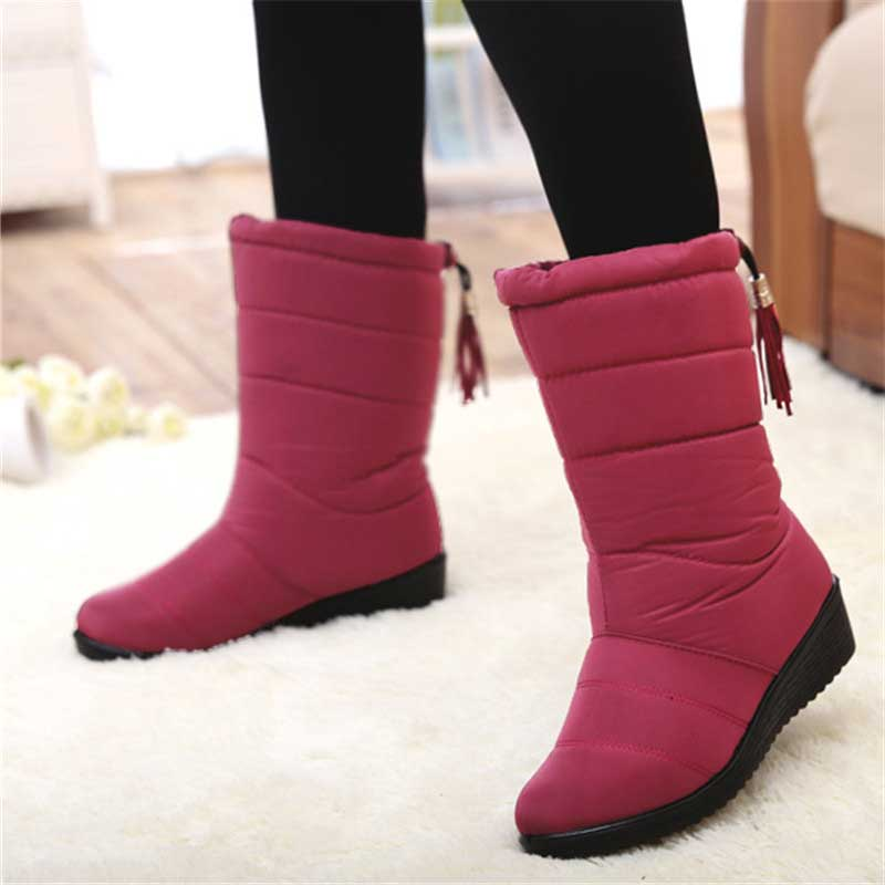 Winter Women Boots Mid-Calf Down Boots