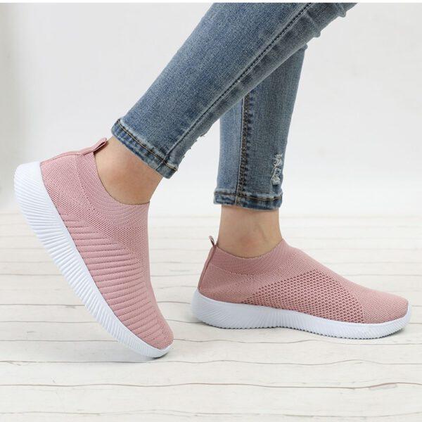 Women's Sneakers Shoes Mesh Slip