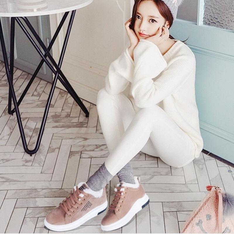 Women Boots Velvet Cotton Shoes