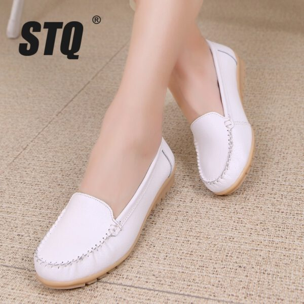 Women Flats Shoes Leather Shoes