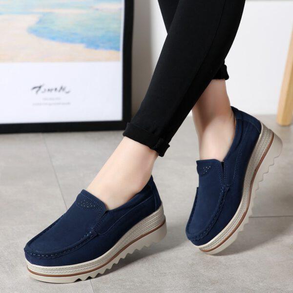 Women Flats Shoes Platform Sneakers