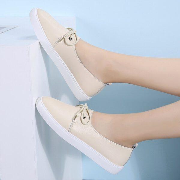 Women Shoes Leather Ballet Flats