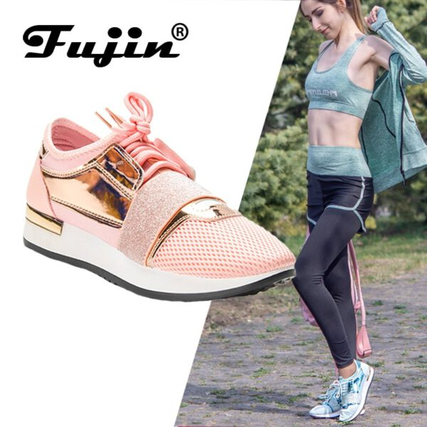 Women Sneakers Pu Leather Shoes